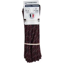 Boottouw Tribord 6 mm x 20 m bordeaux/wit zeilen