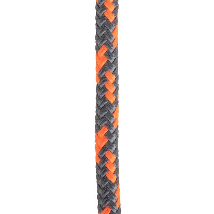 Cordage bateau Ecoute 10mmX20m gris/orange fluo