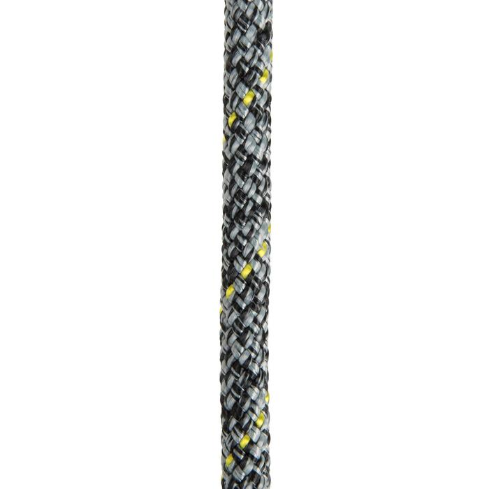 Tauwerk Fall 8mm×25m grau/schwarz/gelb