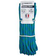Modra in zelena jadralna vrv (8 mm x 15 m)