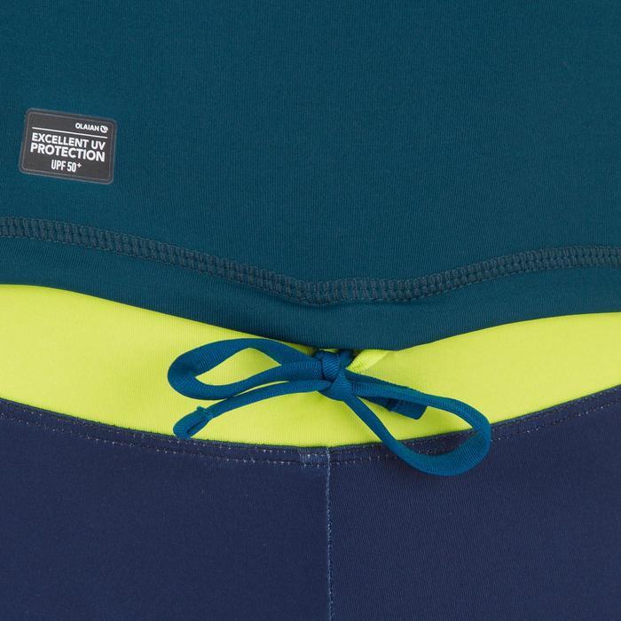 Uv-werende rashguard 500 met korte mouwen voor kinderen, voor surfen, jungle - 1296937