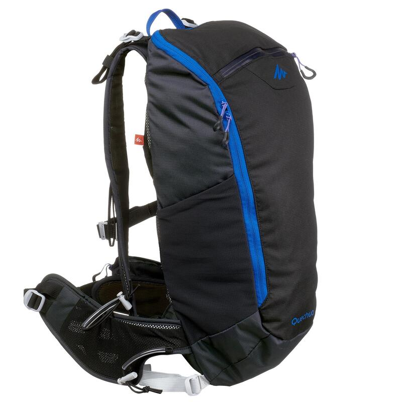 Sac à dos de randonnée rapide FH500 Helium 15 litres Noir/bleu