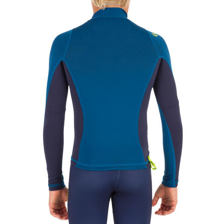 500 Kids Long Sleeve UV Protection Top Surfing T-Shirt - Blue
