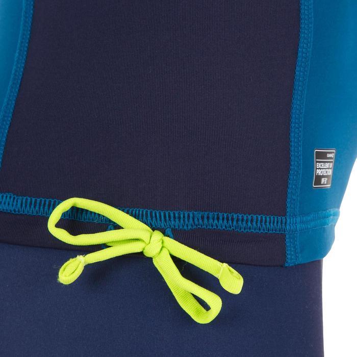 Camiseta anti-UV surf top 500 manga larga júnior azul