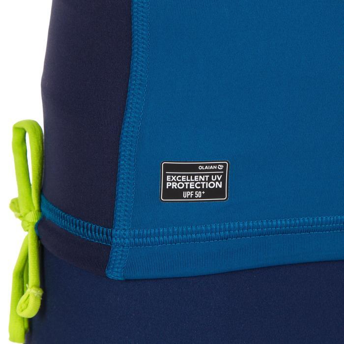 Uv-werende rashguard 500 met lange mouwen voor kinderen blauw - 1297014