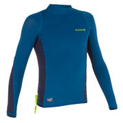500 Children's Long Sleeve UV Protection Top Surfing T-Shirt - Blue