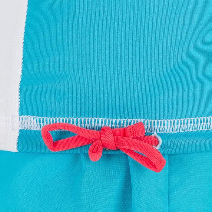 Uv-werende rashguard 500 met lange mouwen voor kinderen wit blauw - 1297019