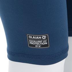 3/4-Hose Leggings mit UV-Schutz Surfen 100 Baby blau/grau