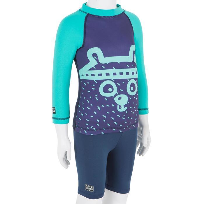 947805d3a Camiseta anti-UV surf top térmico polar manga larga bebé Azul marino ...