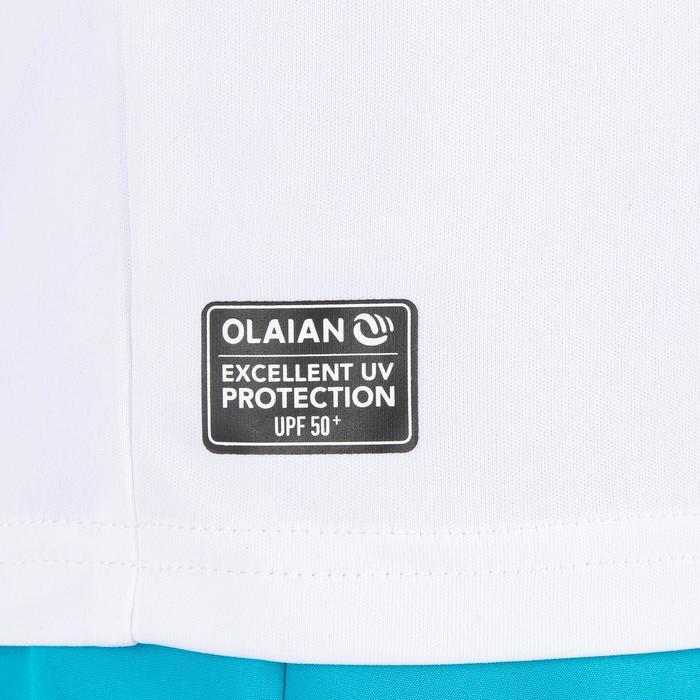 UV-Shirt langarm Surfen Kinder weiß