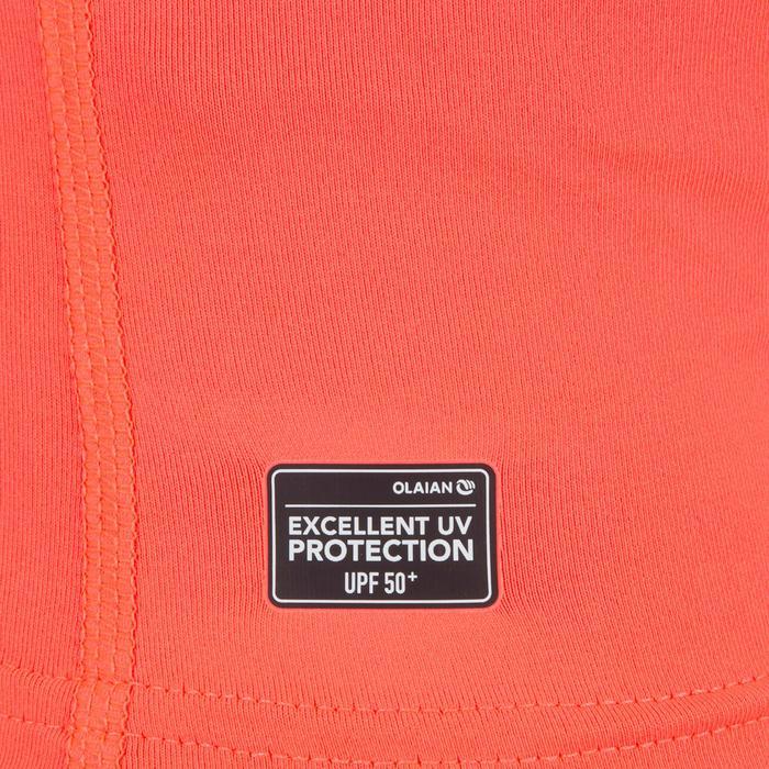 Camiseta anti-UV surf Top 100 manga corta júnior rosa