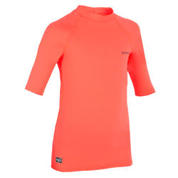 UV-resistant 100 Children's short sleeve surfing t-shirt - Pink