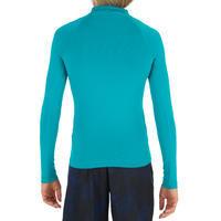 UV-Resistant 100 Children's Long-Sleeved Surfing Shirt - Turquoise