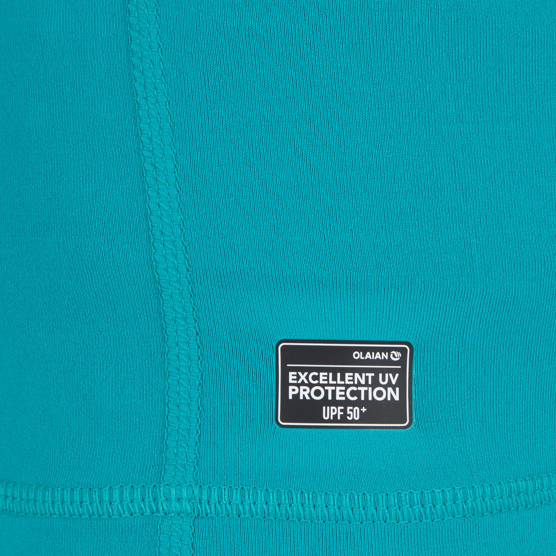 574ac14d6999 Playera de surf anti-UV Top 100 manga corta niños Azul turquesa ...