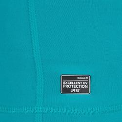 Top Camiseta Proteción Solar Playa Surf Olaian Top100 Niño Turquesa ANTI-UV