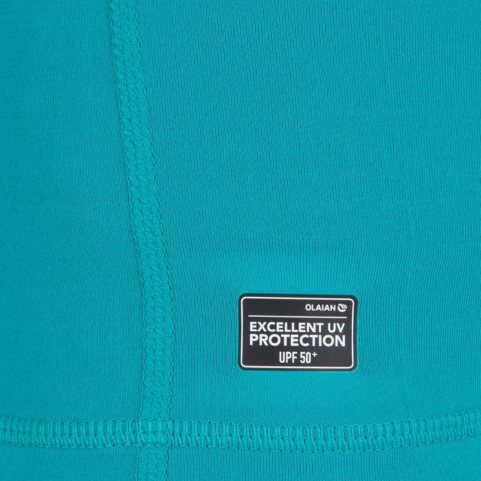 UV shirt kind 100 lange mouwen groenblauw