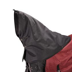 Halsstuk Allweather 300 ruitersport paard zwart