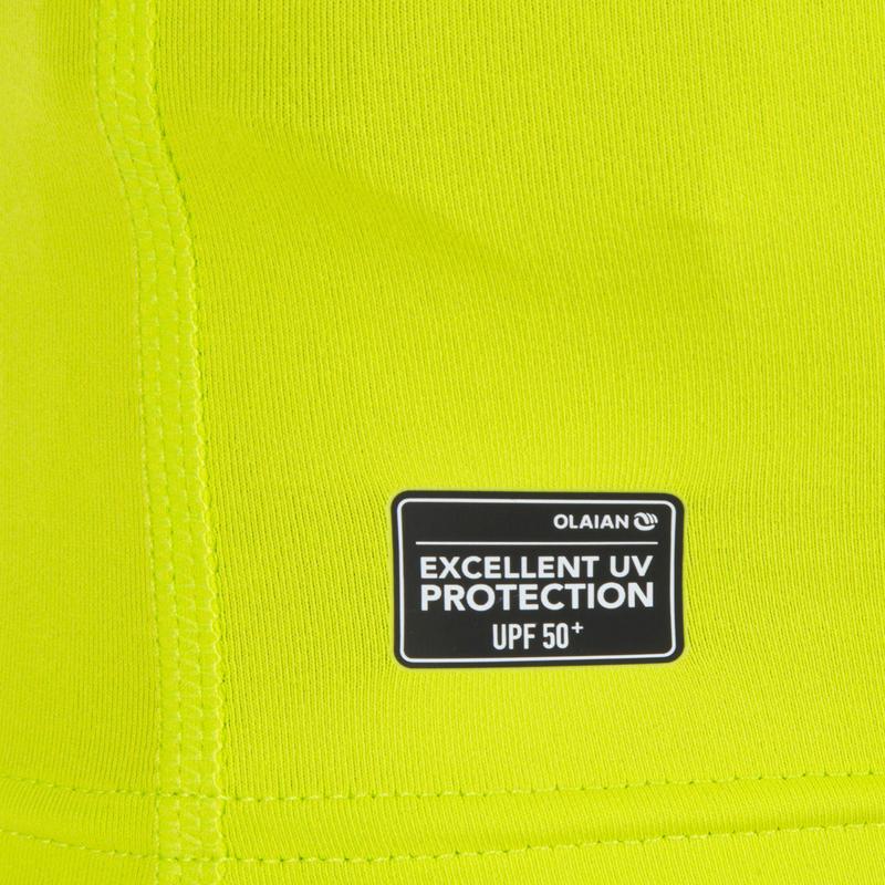 100 Children's Half Sleeve UV Protection Surfing Top T-Shirt - Green