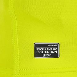 Camiseta anti-UV surf top 100 manga corta niños verde anís