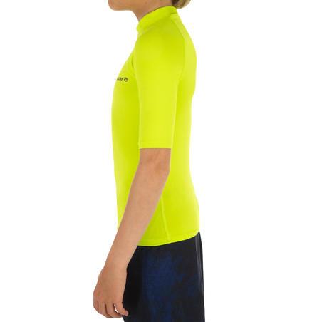 UV-Resistant 100 Children's Short-Sleeved Surfing T-Shirt - Green