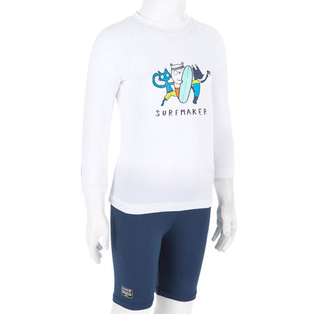 Солнцезащитная футболка д/малышей с длин. рукавами для водных видов спорта 100