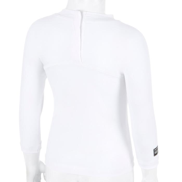 Uv-werend shirt 100 met lange mouwen voor peuters wit gerecycleerd