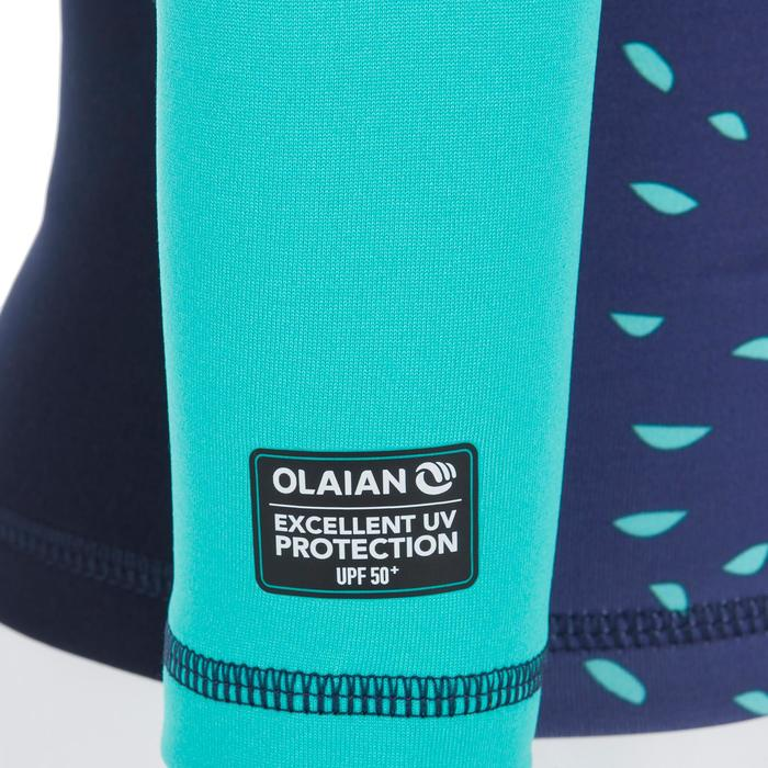 Camiseta anti-UV surf top térmico polar manga larga bebé Azul marino