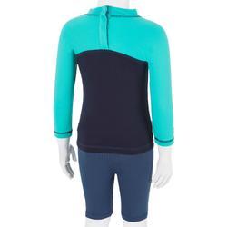 UV-Schutz-Shirt langarm Fleece Baby Surfen marineblau