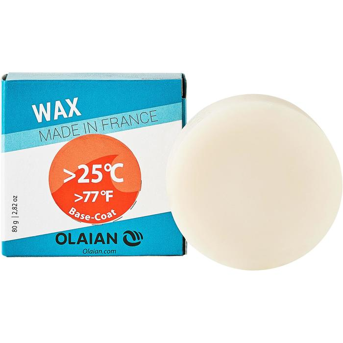 Surfwax voor tropisch water warmer dan + 25°C en base coat