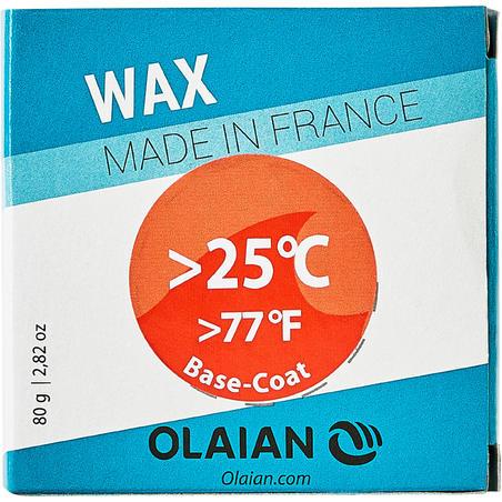 Parafina Surf Olaian Agua Tropical +25 °C y base coat