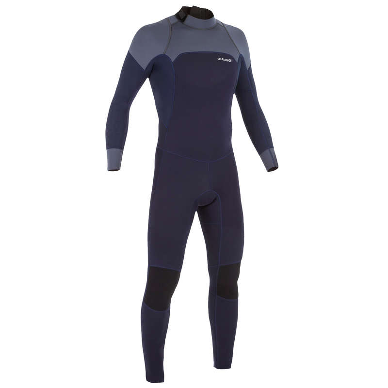 TEMPERED WATER WETSUIT Surf - M 3/2 Wetsuit 500 - Navy Blue OLAIAN - Wetsuits