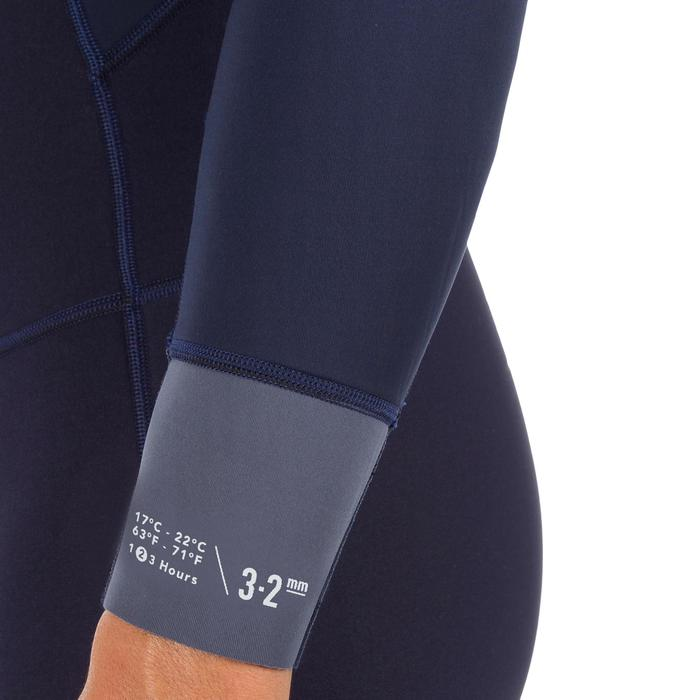 Neopreen surfpak 500 voor heren 3/2 mm marineblauw