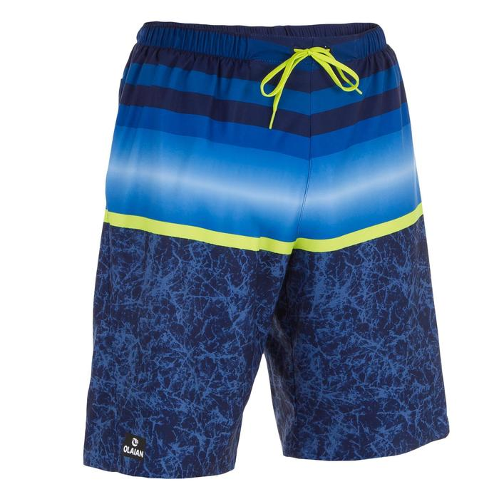 Surf zwemshort lang model 100 Stripes Blue