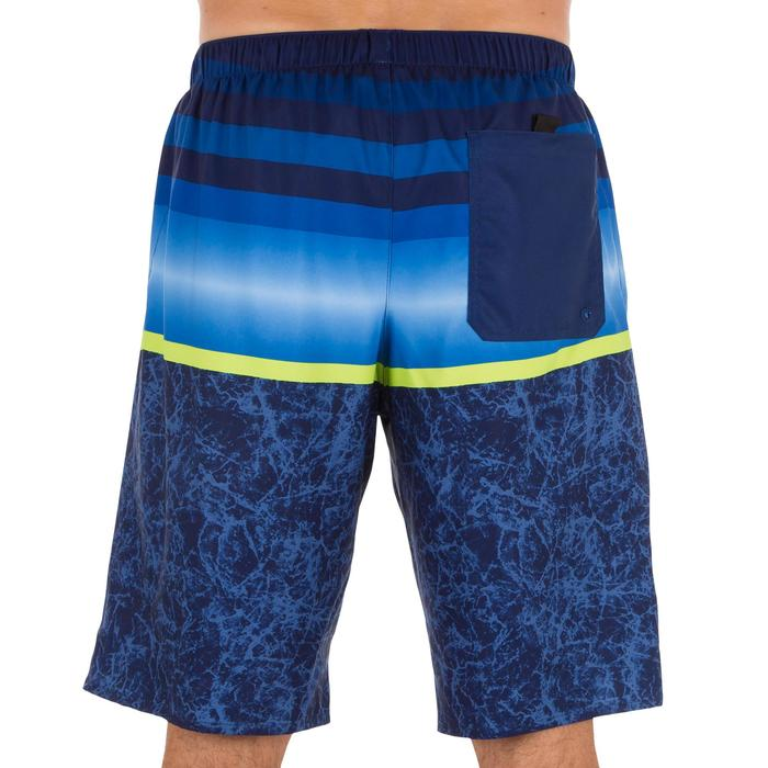 Surf boardshort long 100 Stripes Blue