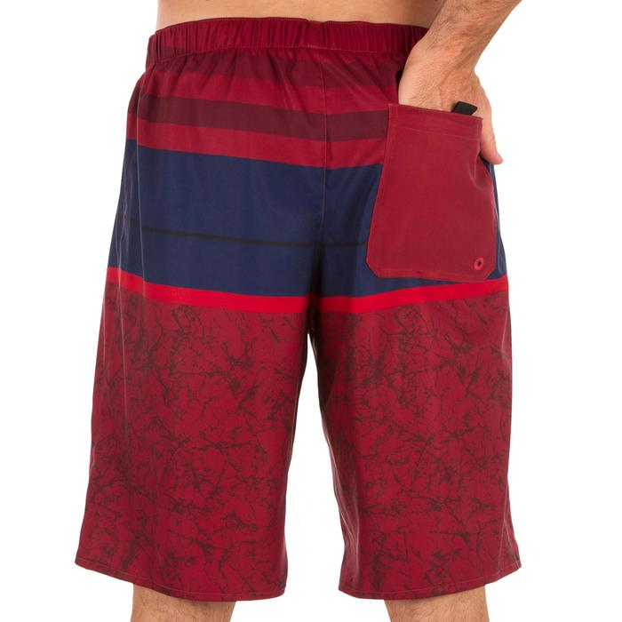 Surf boardshort largo 100 Stripes rojo