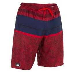 Surf boardshort long 100 Stripes Red