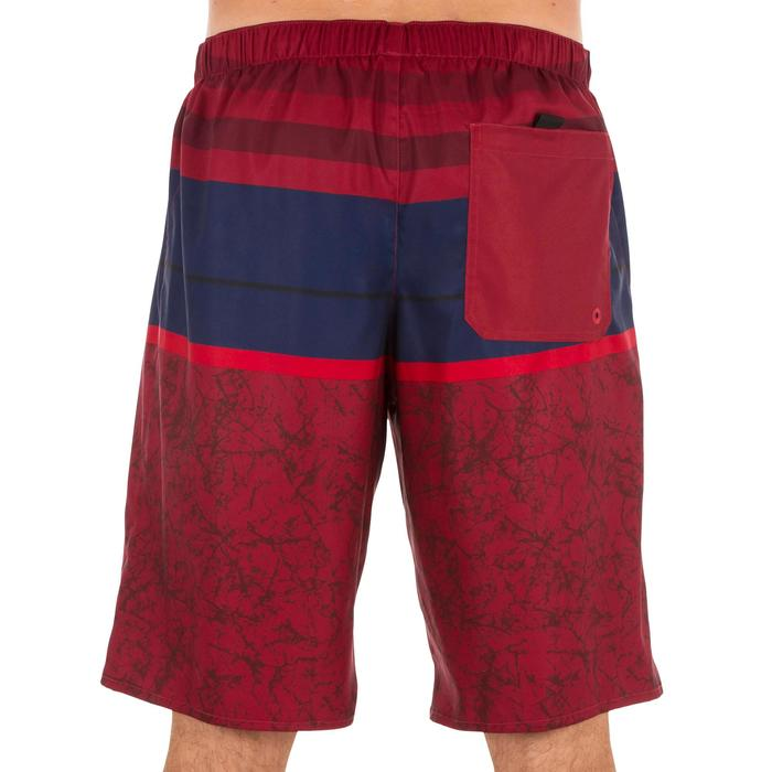 Lange surf boardshort 100 stripes rood