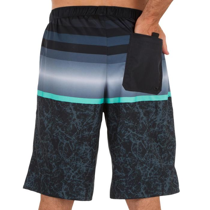 Surf boardshort long 100 Stripes Black