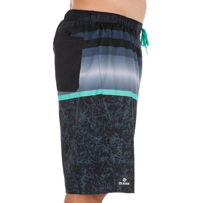 Surf boardshort largo 100 Stripes negro