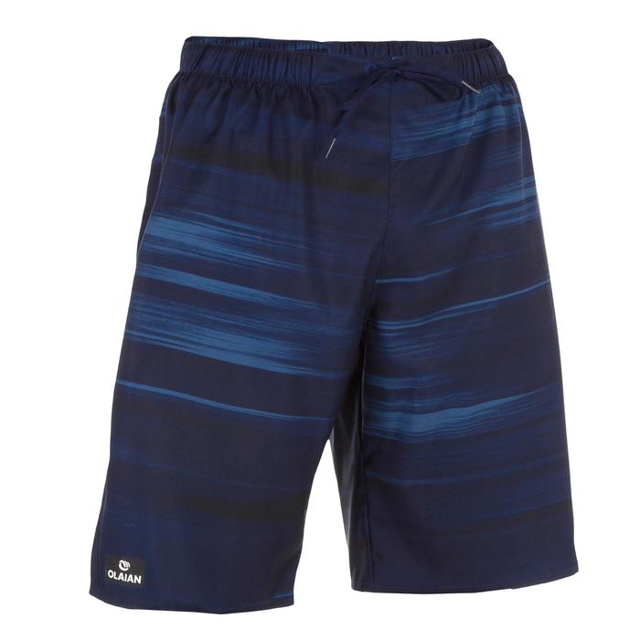 Surf zwemshort lang model 100 Cloud Blue
