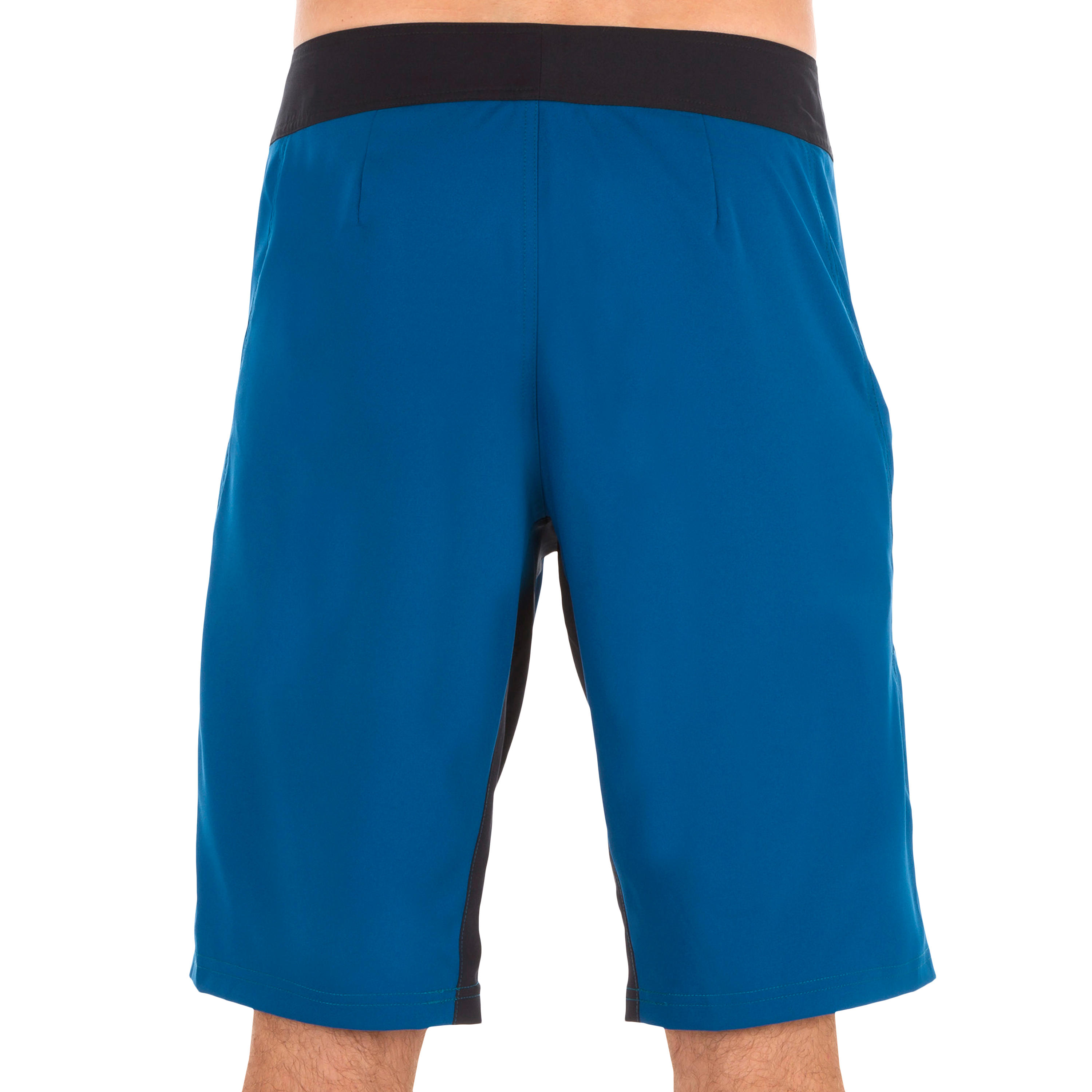 500 long surfing boardshorts plain blue