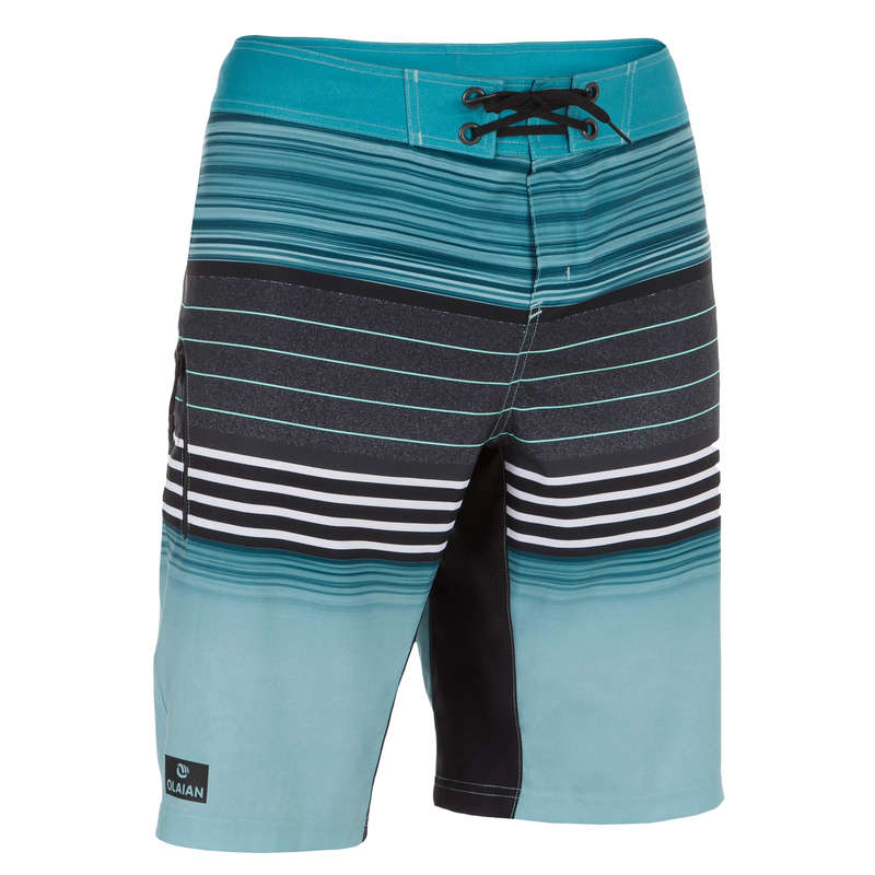 MEN'S INTERMEDIATE BOARDSHORTS Swimming - 500 SBS Best Turquoise OLAIAN - Swimwear