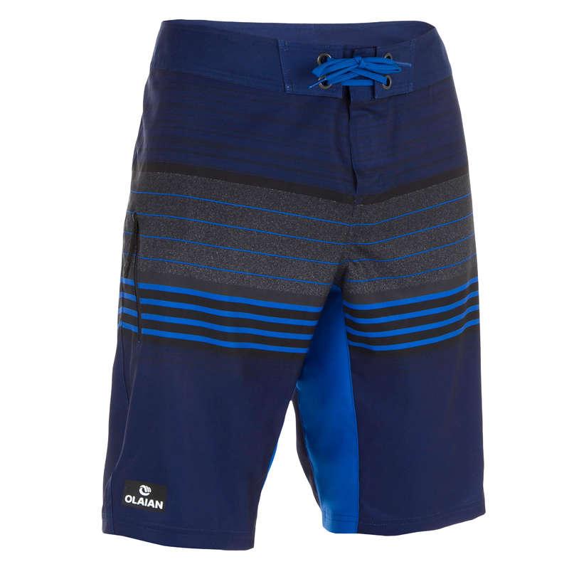 MEN'S INTERMEDIATE BOARDSHORTS Swimming - 500 SBS Best blue OLAIAN - Swimwear