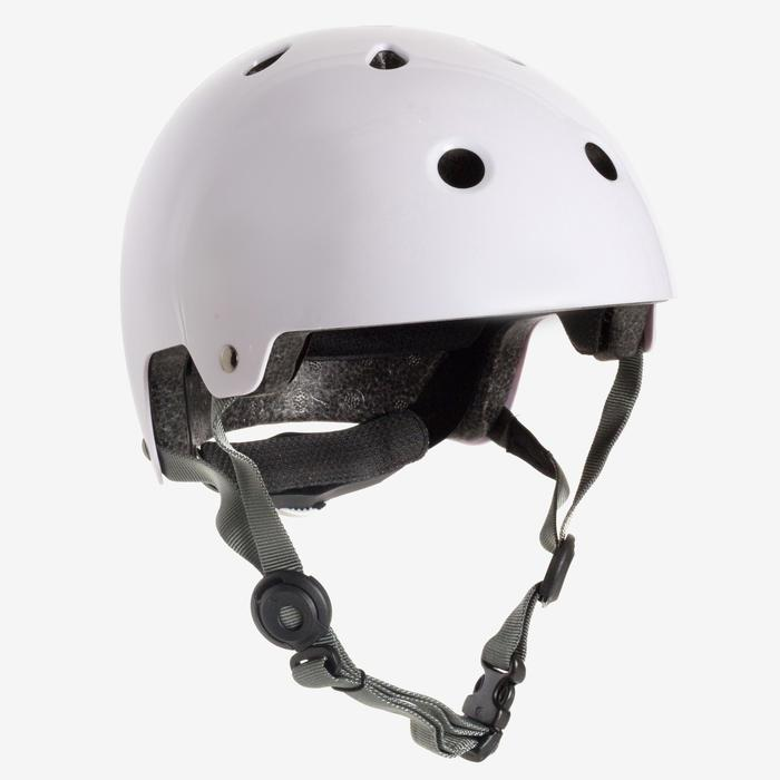 Helm voor skeeleren, skateboarden, steppen Play 5 wit