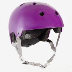 Casque patin, planche à roulettes, trottinette PLAY 5 violet