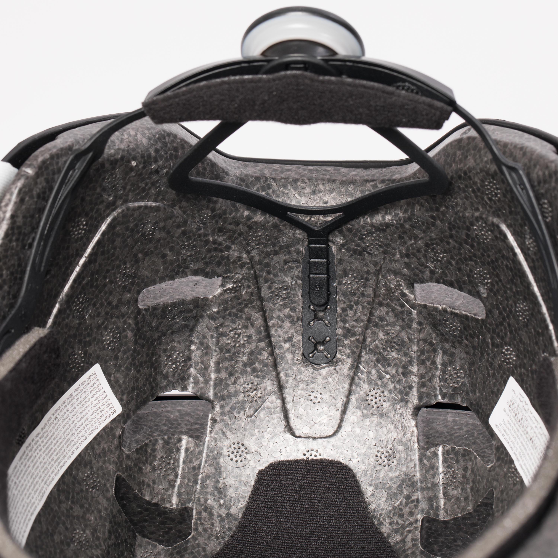 Casque patins à roues alignées, planche, trottinette, vélo MF 540 pourpre gris