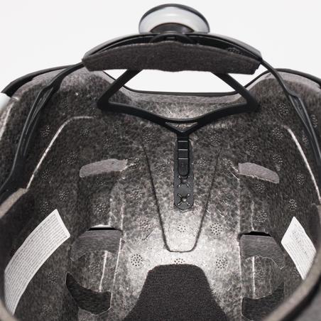 Casque patin roues alignées planche à roulettes trottinette MF500 gris