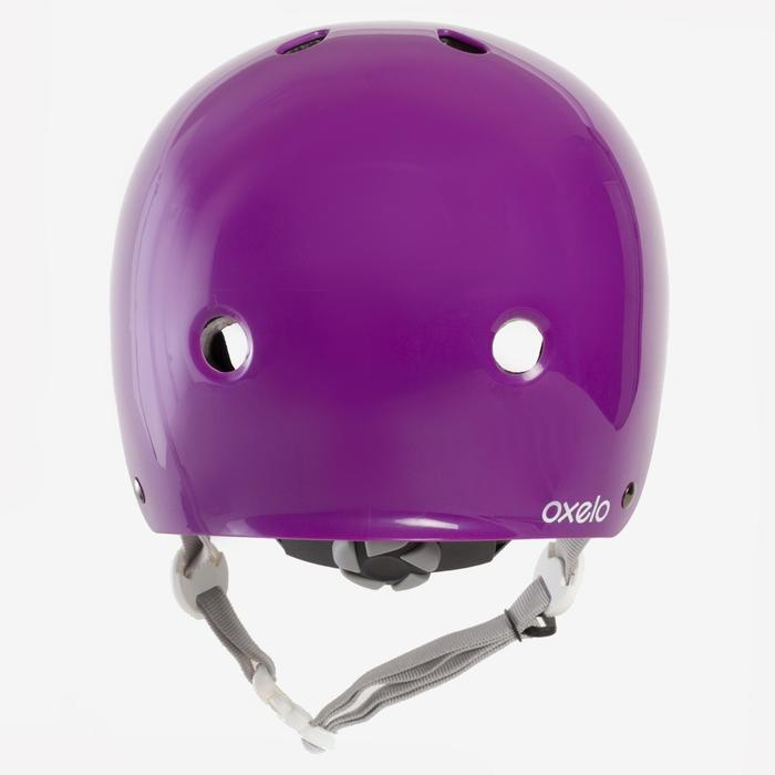 Casque roller skateboard trottinette PLAY 5 violet