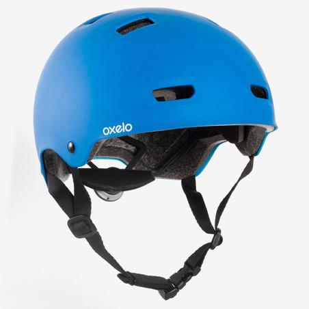Casque patin à roues alignées, planche à roulettes, trottinette MF500 bleu