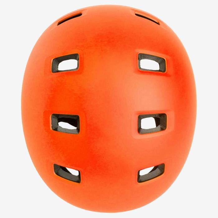 Casque roller skateboard trottinette MF540 orange fluo